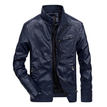 Mens Autumn Clothes New Leather Jacket PU Collar Faux Fur Coats Pu Jackets Winter Coat