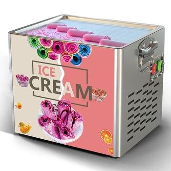 Mini Ice Cream Maker Yogurt Fruit Roll Pan Fried Machine 2020 new model small one pan roll cold plate mini fried ice cream machine home use
