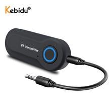 Kebidu Bluetooth Transmitter 3,5 MM Jack Audio Adapter Wireless Bluetooth Stereo Audio Transmitter Adapter für PC TV Kopfhörer