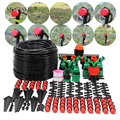 MUCIAKIE 50M/25M/5M DIY Micro Drip Irrigation System Dripper Plant Self Watering Garden Hose Kit With Adjustable Drippers