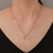Hello Miss Small fresh butterfly temperament clavicle chain personality simple necklace fashion womens jewelry