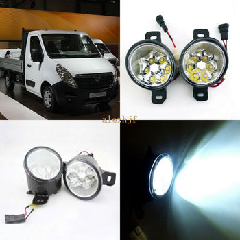 July King 18W 6LEDs H11 LED Fog Lamp Assembly Case for Opel Movano Renault Master 2010+,  6500K 1260LM LED Daytime Running Light