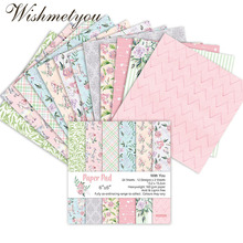 WISHMETYOU 24PCS Small Crushed Flowers Scrapbook Sticker Patterned Paper DIY Handcrafted Craft Wedding Decoration Material