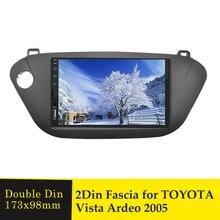 Doppel Din Auto Fascia Rahmen für Toyota Vista Ardeo 2005 Stereo Radio Adapter Panel Umrüstung GPS DVD Rahmen Lünette Dash kit Trim