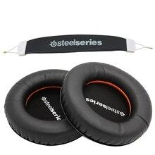 สำหรับ SteelSeries SIBERIA V1 V2 V3 ชุดหูฟังฟองน้ำ Earbud หูฟังเปลี่ยนโฟมแผ่นรองหูฟัง + headband Pads