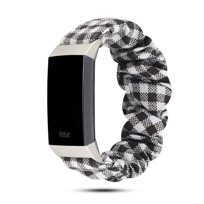 Scrunchie Elastic Design Watch Band Strap for Fitbit Charge 4 3 Smart Watch Bracelet Strap for Fitbit Charge 4 3 Replacement 4