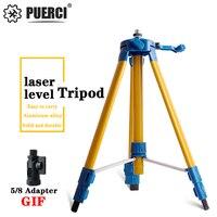 PUERCI 1.2m/1.5m Adjustable Metal Aluminum Holder for Laser Level Tripod & Measurement Tool Building Construction Tools