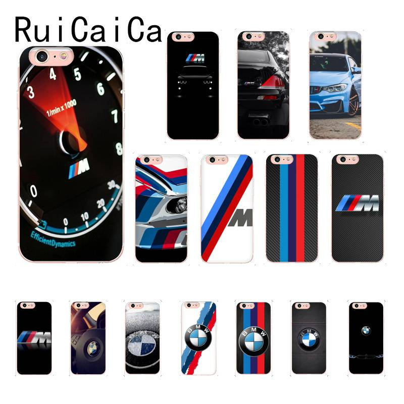 RuiCaiCa New <font><b>BMW</b></font> plastic Soft Silicone TPU Phone Cover <font><b>For</b></font> <font><b>iPhone</b></font> <font><b>8</b></font> 7 6 6S Plus X XS MAX 5 5S SE XR 11 11pro promax Mobile Cover image