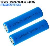 ICR18650 3,7 V 2200mAh перезаряжаемая батарея 18650 литиевые батареи литий-ионная батарея для фонарь светильник-вспышка