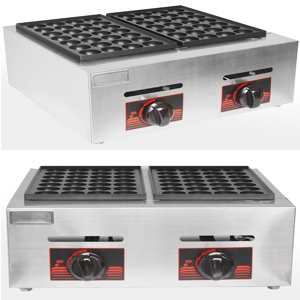 Selling  Double Plates Gas Fish Ball Machine LPG Takoyaki Ball Grill Machine Commercial Octopus Ball Furnace 2 Orders