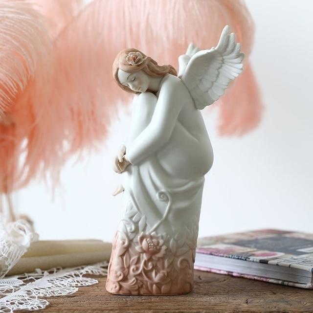 Hiszpania ceramiczne anioły dziewczyna lalka rzeźba artystyczna dziewczyna figurki ceramika rzemiosło akcesoria do dekoracji domu salon R5004
