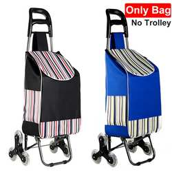 Foldable Shopping Trolley Bag Tote Cart Carts Trolley Bag Basket Luggage Rain Proof Thickened Canvas