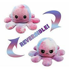 Octopus boneca dupla face flip octopus brinquedo de pelúcia chirdren crianças aniversário brinquedo de pelúcia crianças namorada presente macio adorável transfo
