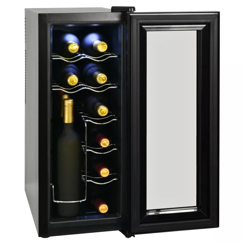 VidaXL Furniture Wine Fridge 35L 12 Bottles LCD Display Bar & Wine Cabinets