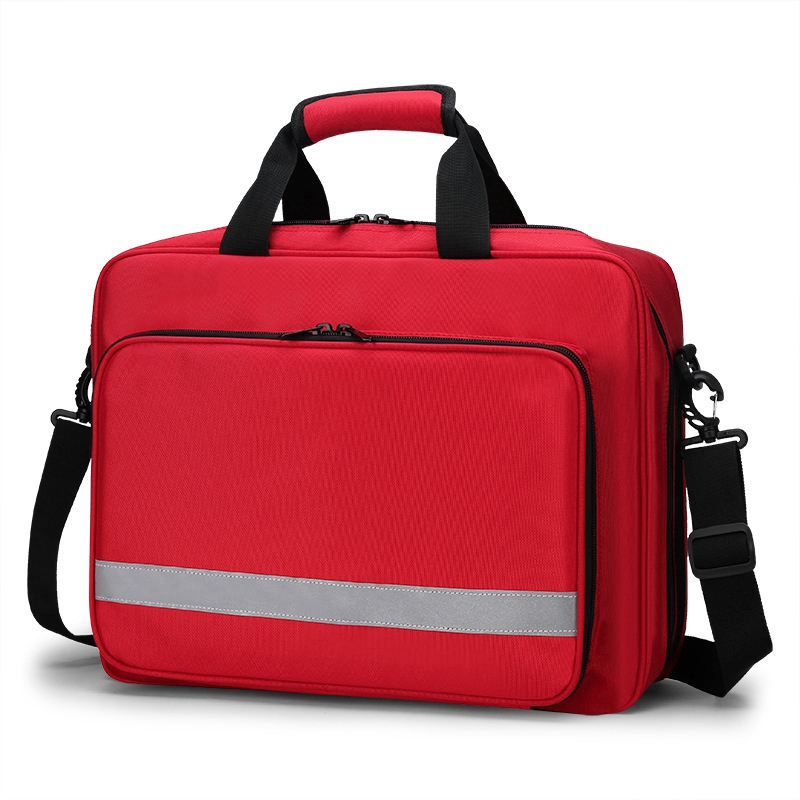 Outdoor First Aid Kit Sports Nylon Waterproof Multi-Function Reflective Messenger Bag Family Travel Emergency Kit