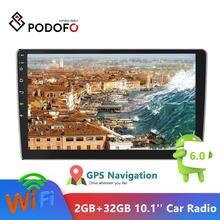 Podofo 10.1'' Android 2din Car Radio 2GB+32GB Audio Stereo Car Autoradio GPS Bluetooth WIFI Mirrorlink MP5 Player Car Autoradio