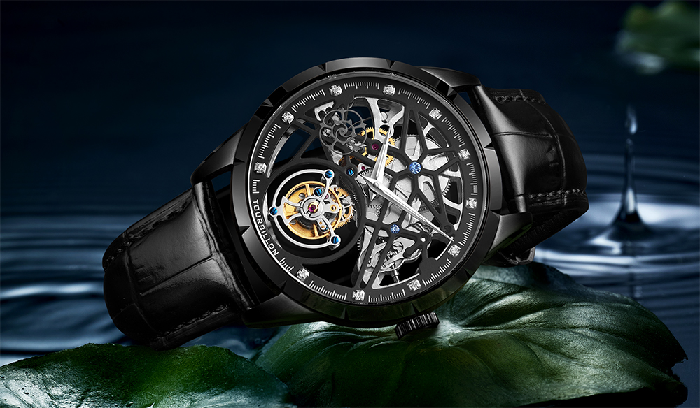 Super New Model GUANQIN Original Tourbillon business men watch top brand luxury Skeleton Sapphire  clock men Relogio Masculino 14