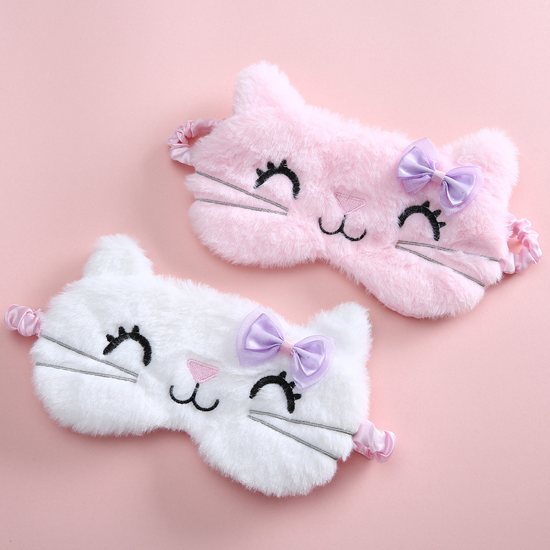 Eyepatch Blindfold Sleep-Mask Cat-Eye-Cover Travel-Rest Anime Kids Cartoon Cute Soft