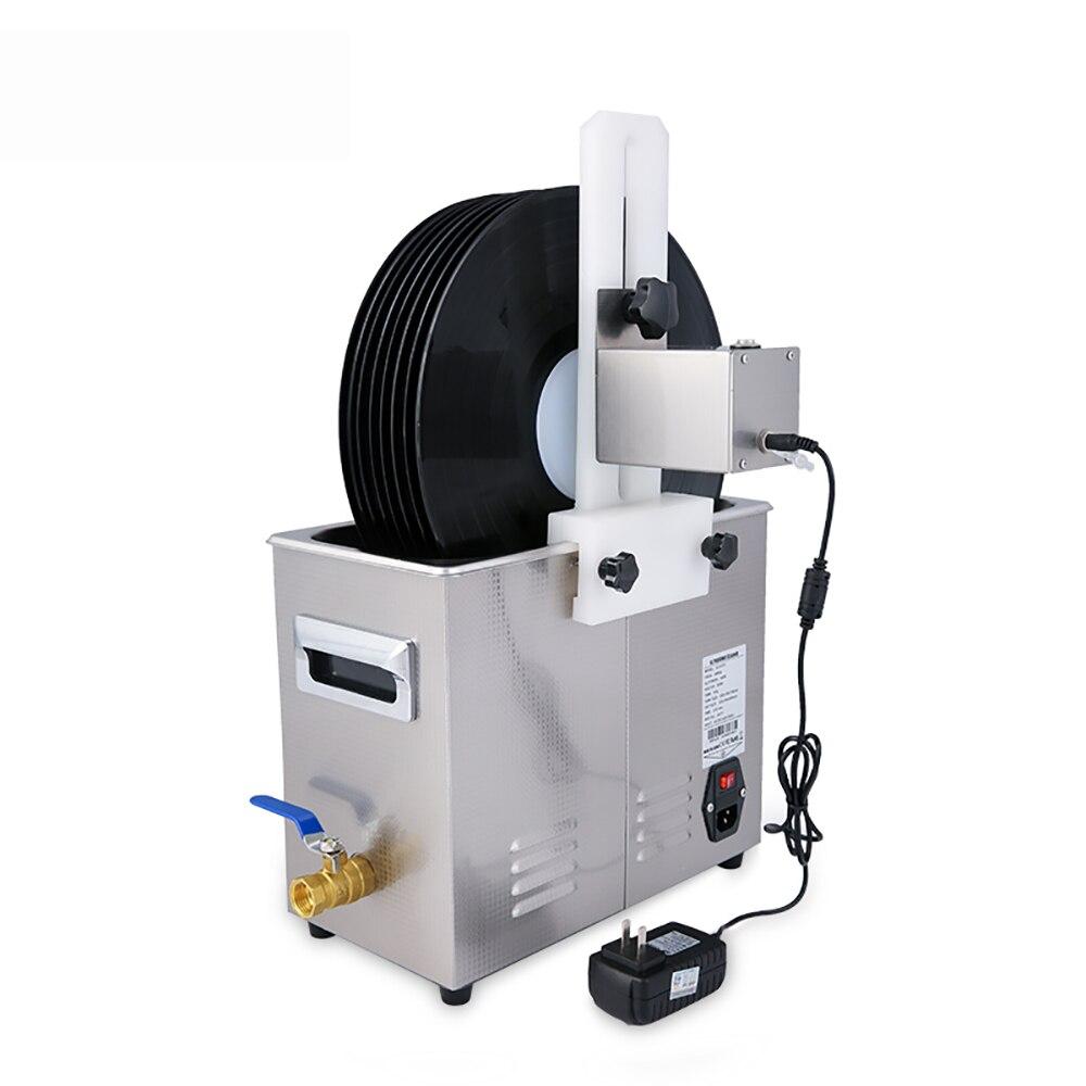 Registro de vinil profissional aço inoxidável máquina limpeza ultra sônica disco fonógrafo ultra som máquina lavar roupa jóias mais limpo - 2