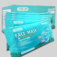 Одноразовая Защитная маска, 10 шт./пакет, 3 слоя нетканого материала, Пыленепроницаемая маска от малдегида для защиты лица и ушей