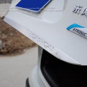 Image 2 - Dla Nissan Qashqai j11 2016 2018 2019 2020 naklejki na drzwi z płytą tylną ze stali nierdzewnej drzwi klapa tylna akcesoria do wykończeń samochodowych