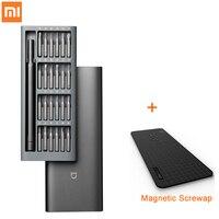 Kit di cacciaviti di precisione Xiaomi Mijia originali 24 punte di alta qualità manico antiscivolo custodia in alluminio contenitore magnetico