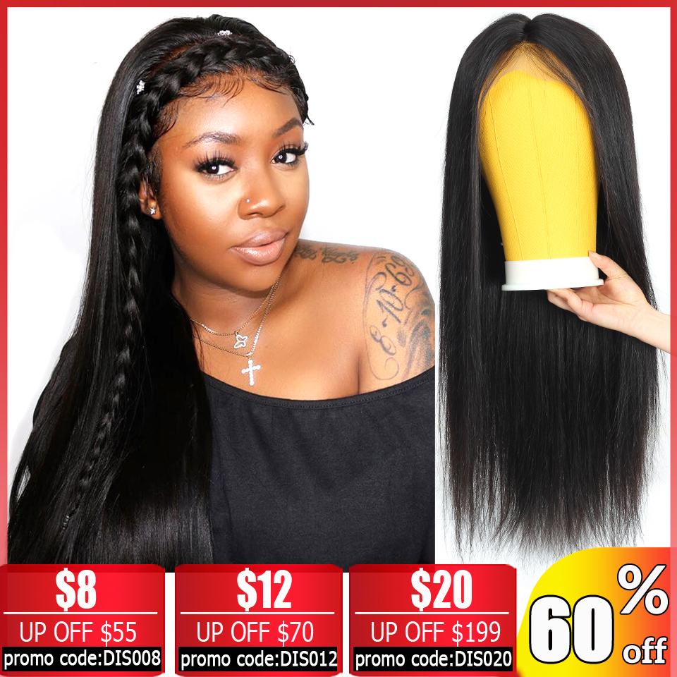 Straight Lace Front Wig Brazilian 13x4 Glueless Short Lace Front Human Hair Wigs For Black Women Non-Remy Bob Lace Front Wigs