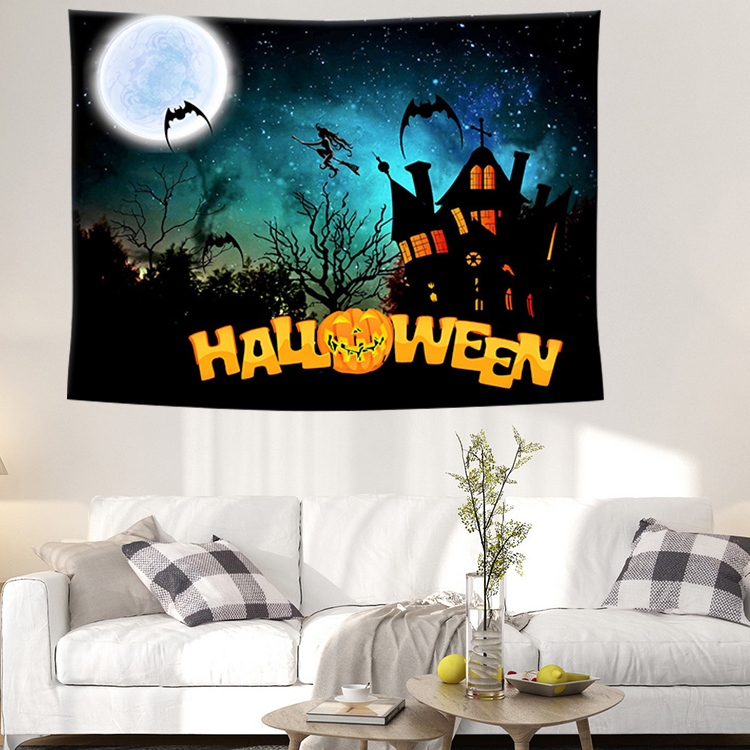 Hot Sale Halloween Wall Tapestry Wall Hanging Tapestry Home Decor Backdrop Yoga Picnic Mat 200cm X 150cm 2019