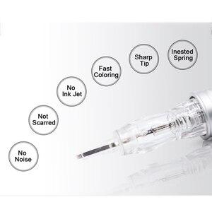 Image 3 - Biomaser Permanent make up nadeln 3SF 4SF 5SF Hang Microblading Tattoo Nadel für Augenbraue lippe Make Up Stift Maschine Nadeln Tipps