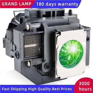 Image 1 - החלפת מנורת מקרן ELPLP58 עבור EPSON EB S10 EB S9 EB S92 EB W10 EB W9 EB X9 EB X92 EB X10 עם דיור