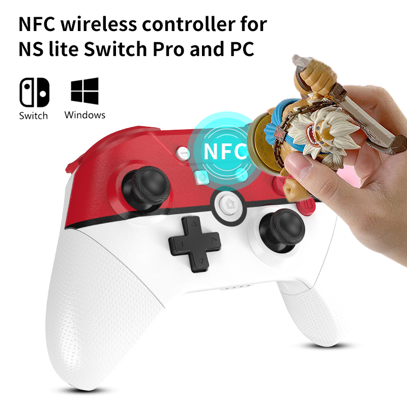 Wireless Bluetooth game controller for Nintendo Switch Pro NS Lite PC notebook NFC Turbo 6-Axis doublemotor 3D Joysticks gamepad