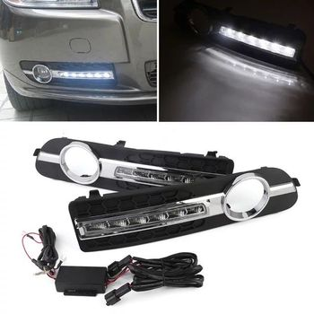цена на 2 pcs car styling for Volvo S80 2009 - 2013 LED Day light DRL Daytime driving Running Lights Daylight cover yellow turn signal