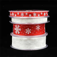 5/20Meters white organza ribbon for crafts Christmas Gift Handwork DIY red Grosgrain Ribbons Bow wedding Card Wrapping Supplies
