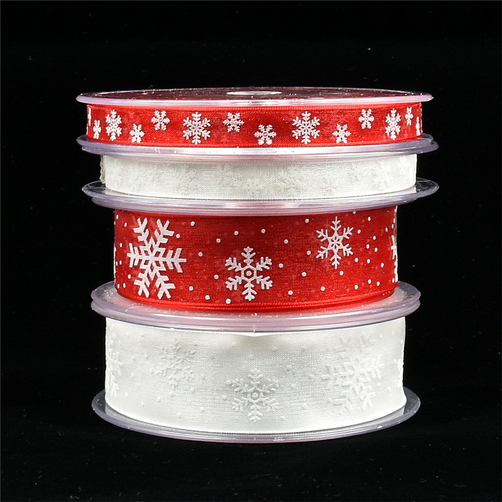 5/20Meters white organza ribbon for crafts Christmas Gift Handwork  DIY red Grosgrain Ribbons Bow wedding Card Wrapping Supplies-in Ribbons from Home & Garden
