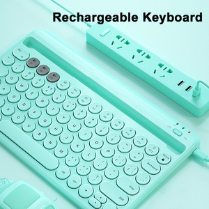 Image 5 - Bluetoothワイヤレスサイレントミニゲームセットキーボードマウスコンボマジックキーボードマウスキットipadと電話hp huawei社ノートpcゲーマー