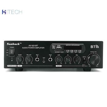 цена на Power amplifier (black / send picture check mark AV-501BT) 2000W 2-channel Bluetooth AMP Hi-Fi home stereo FM radio SD USB AUX