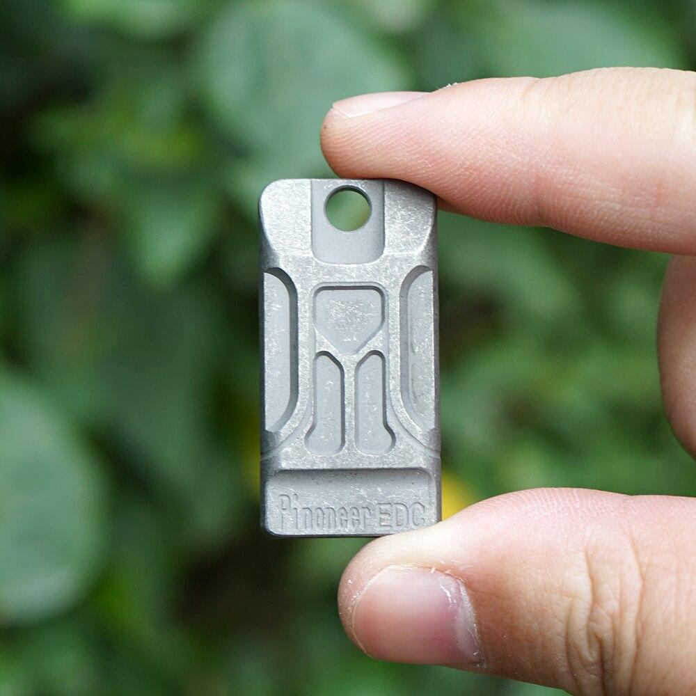 TWOSUN TC4 Titanium Double Pipe Whistle Lifesaving Survival SOS Emergency Escape tool Outdoor Survival tool Portable EDC TS24 (TS24)