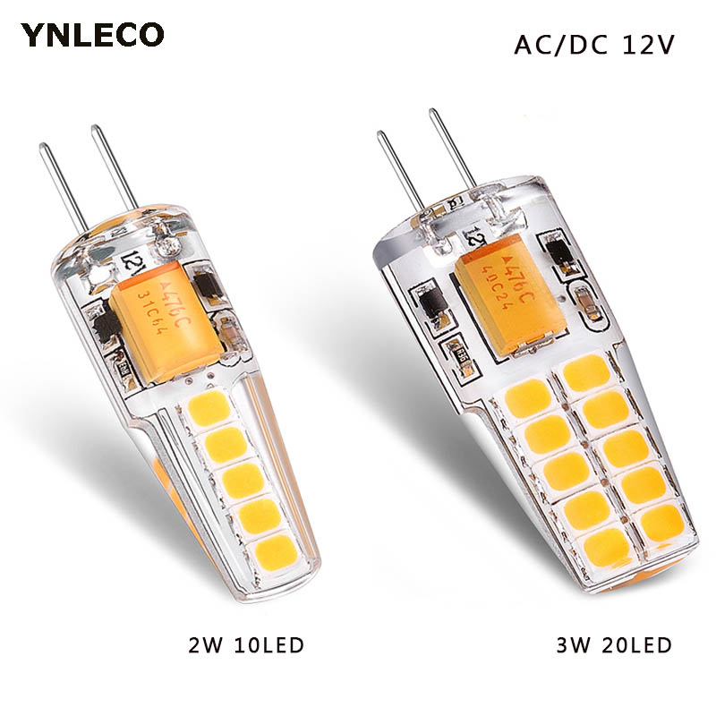 G4 LED Bulb 12V AC DC 2W 3W Lampada Lampara LED G4 Lamp Ampul 10led 20led 360 Beam Angle 2835SMD Replace 20W 30W Halogen Lamp