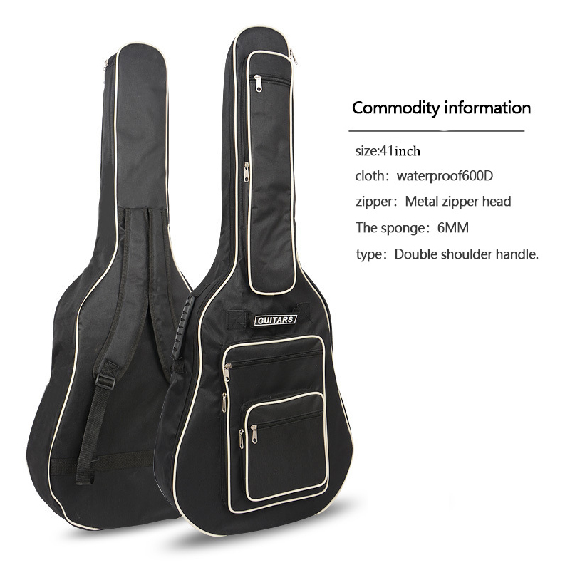 40/41 Inch Guitar Bag Fully Padded Waterproof Guitar Cover Case Soft Music Acoustic Classical Bag with Pock