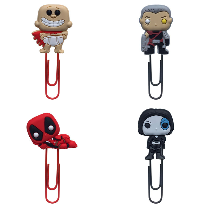 4Pcs Deadpool & Captain Bookmark Metal Clips Page Holder For Teacher Students Paper Clip School Supplies Decoration For Gifts