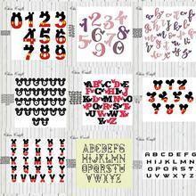 Металлические штампы с цифрами трафарет алфавитом Скрапбукинг