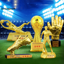 Trophy-Sculpture World-Cup Football Craft Home-Decor Resin Golden Mr. Strongwell Boot-Award-Souvenir