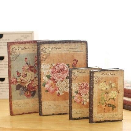 Jingu Flower Notebook European Retro Cloth Cover Notebook Personal Diary Book Vintage Notebook Korean Stationery School-supplies(China)