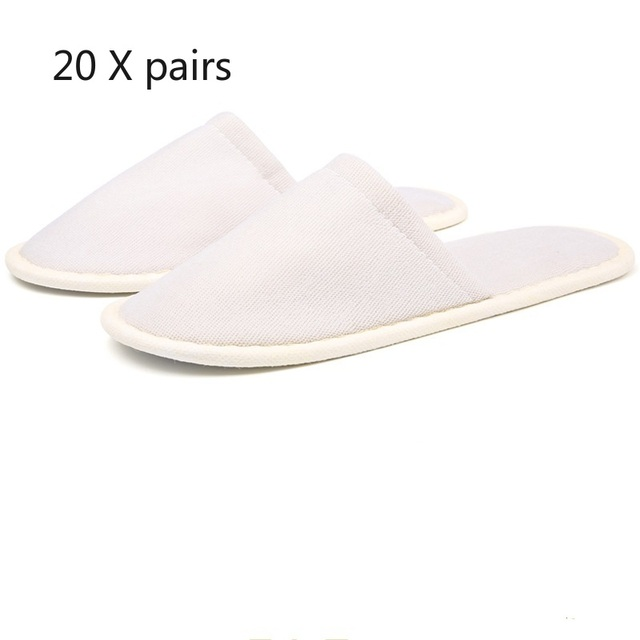 20 pair pantofole usa e getta spa ospiti dell'hotel pantofole open toe asciugamano coperta pantofole usa e getta