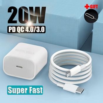 20 Вт 18 Вт Pd Usb C зарядное устройство для Iphone 12 Pro Max 11 Xs Xr для быстрой зарядки зарядным устройством типа C Qc 3,0 на Xiaomi быстрой зарядки мобильный телефон зарядное устройство