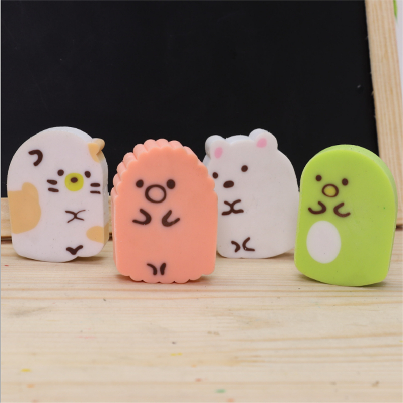 Dumpling Family Cartoon Cute Eraser Corner Of The Biological Polished And Well-cleaned Eraser School Supplies Random Color