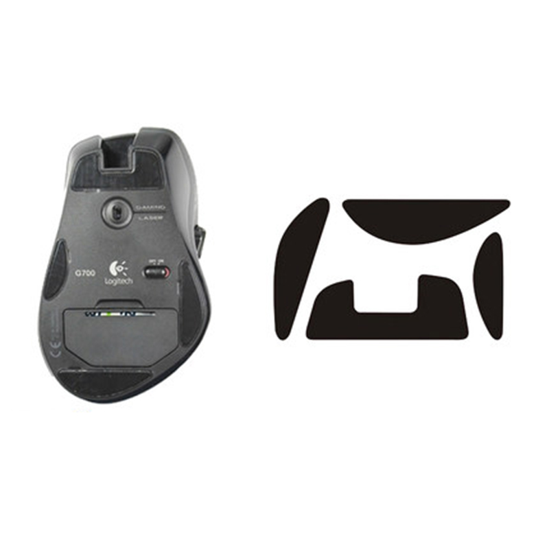 Teflon 3M 0.6mm mouse <font><b>feet</b></font> mouse skatez for Logitech <font><b>G700</b></font> G700S Mouse <font><b>Foot</b></font> Sticking <font><b>Foot</b></font> Cushion Sticking <font><b>Foot</b></font> with Resist film image