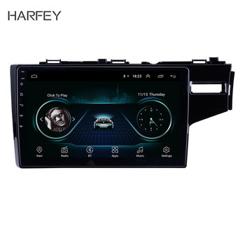 "Harfey Car Wifi Bluetooth 3G Android 8.1 10.1"" car Multimedia Player 2din GPS For 2014 2015 HONDA JAZZ/FIT (RHD) GPS Navigation"