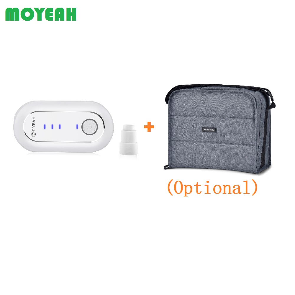 MOYEAH Portable Mini CPAP Cleaner and Sanitizer For CPAP Mask Tubing Cleaning with Heated Tube Adaptor Optional Disinfection Bag