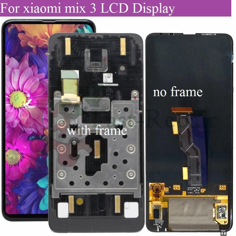 6,39 'Super amoled для XIAOMI MIX 3 ЖК-дисплей сенсорный экран дигитайзер в сборе с рамкой для Mi Mix3 Mix 3 lcd для mix 3 5G LCD